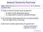 general similarity functions