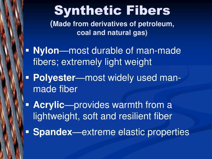 science synthetic fiber and ans Topic wise:synthetic fibres and plastics preparation in the form of question & answer attempt repeat online tests of science synthetic fibres and plastics till you excel evaluate your progress by doing online mock test of class 8, science.