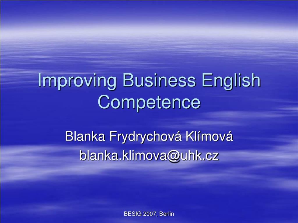 improving business english competence l.