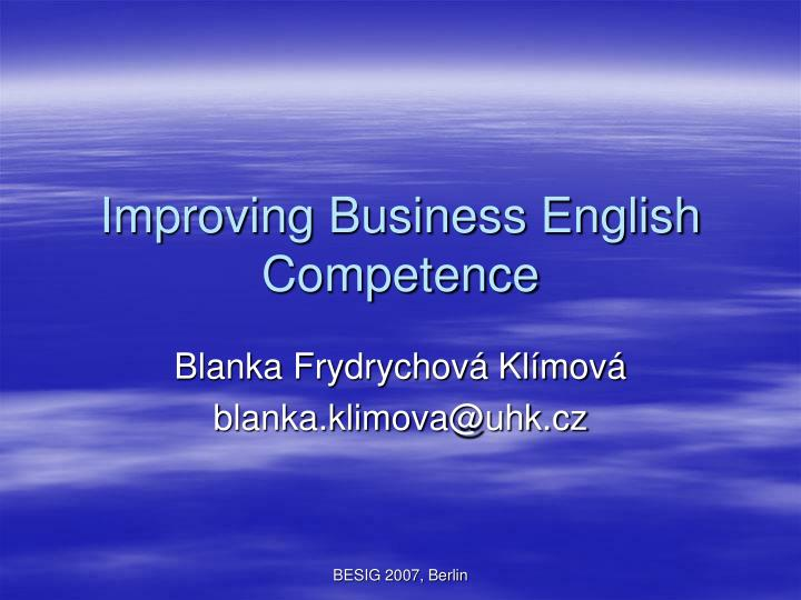 Improving business english competence