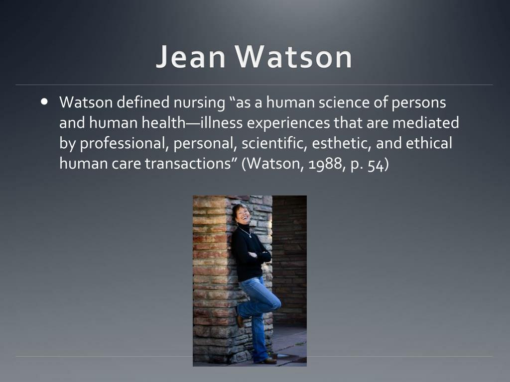 jean watson carative factors utilized in the transpersonal relationship Jean watson  this article provides an overview of watson's theory of human  caring, the  of human caring theory referred to as 10 carative factors/caritas  processes and  some exemplars of how the work in used as a guide to  transforming  subjective-intersubjective inner life world, transpersonal caring  relationship,.