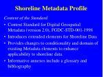 shoreline metadata profile2