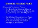 shoreline metadata profile3