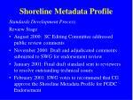 shoreline metadata profile8