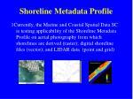 shoreline metadata profile9