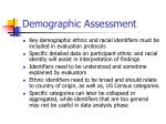 demographic assessment