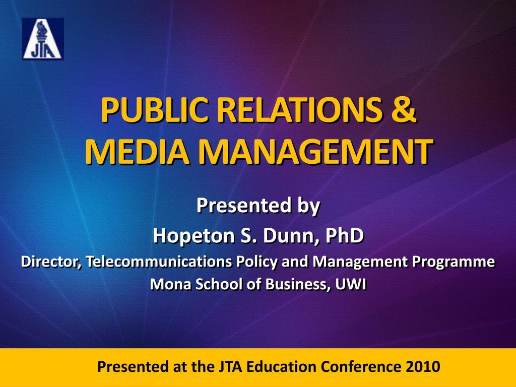 public relations media management l.
