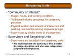 bargaining units