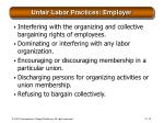 unfair labor practices employer