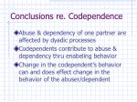 conclusions re codependence