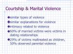 courtship marital violence