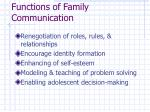 functions of family communication