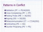 patterns in conflict