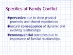 specifics of family conflict