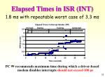 elapsed times in isr int