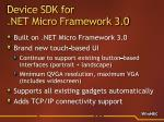 device sdk for net micro framework 3 08