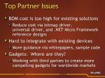 top partner issues23