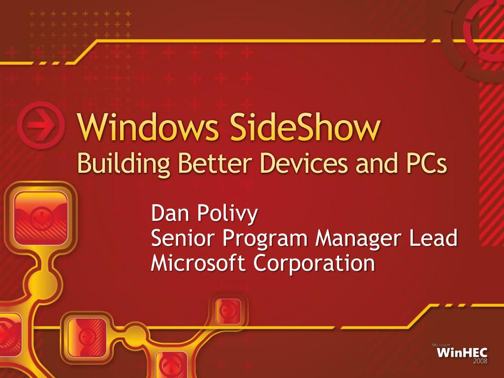 windows sideshow building better devices and pcs l.