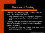the issue of grading