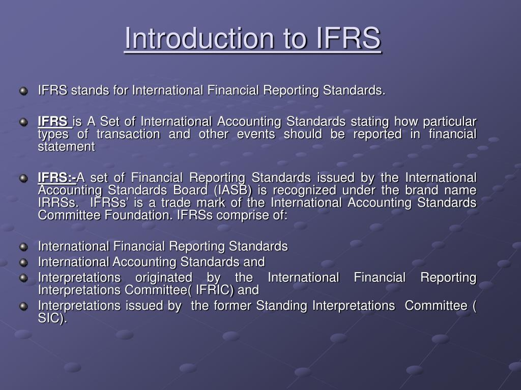 introduction to ifrs l.