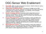 ogc sensor web enablement