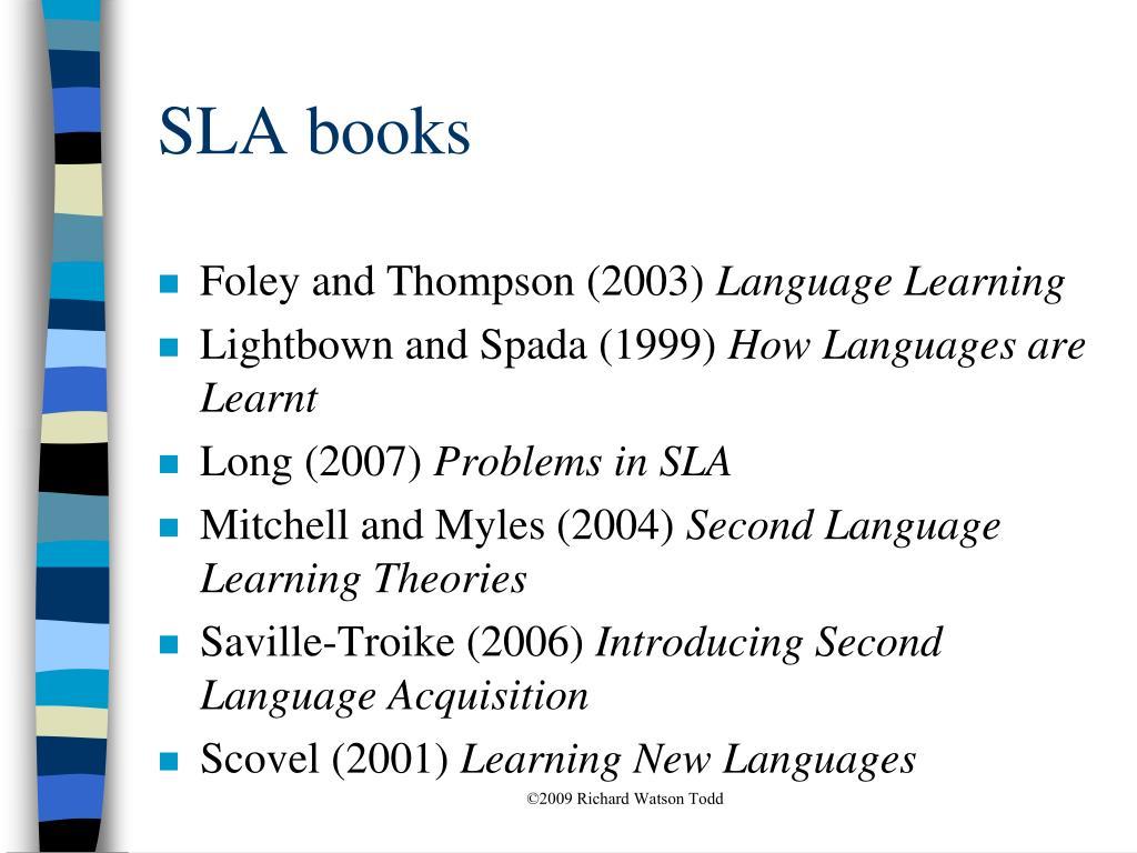 SLA books