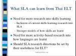 what sla can learn from thai elt