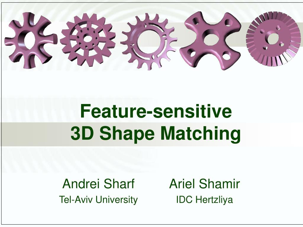 feature sensitive 3d shape matching