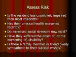 assess risk19