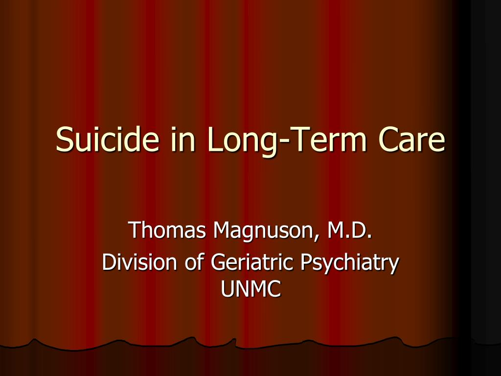 suicide in long term care l.