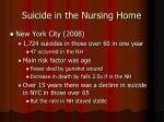suicide in the nursing home