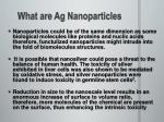 what are ag nanoparticles
