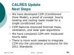 calres update next steps