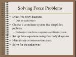 solving force problems