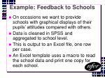 example feedback to schools
