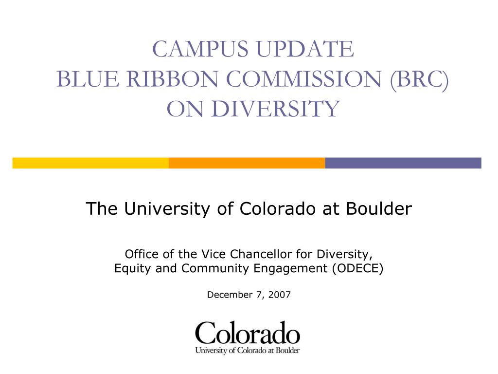 campus update blue ribbon commission brc on diversity l.