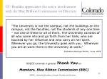 cu boulder appreciates the active involvement with the blue ribbon commission on diversity
