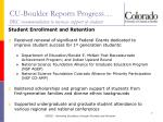 cu boulder reports progress brc recommendation to increase support of students