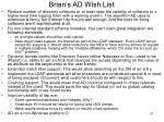 brian s ad wish list
