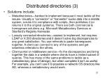 distributed directories 3