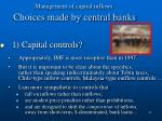 management of capital inflows