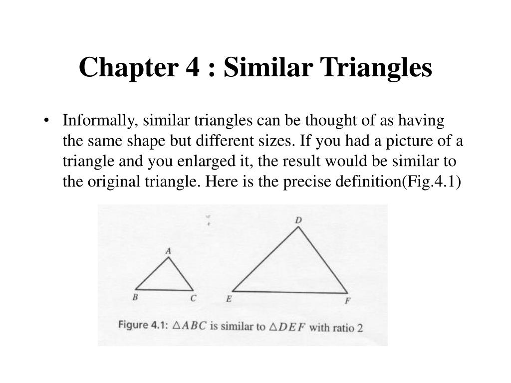 chapter 4 similar triangles l.