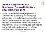 asha s response to slp shortages focused initiative 2007 work plan cont12