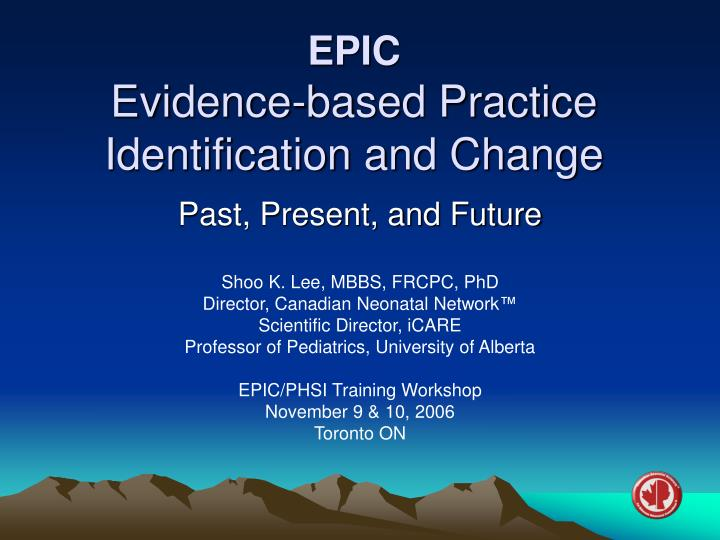epic evidence based practice identification and change n.