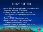 epic phsi plan