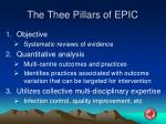 the thee pillars of epic