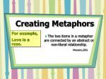 creating metaphors