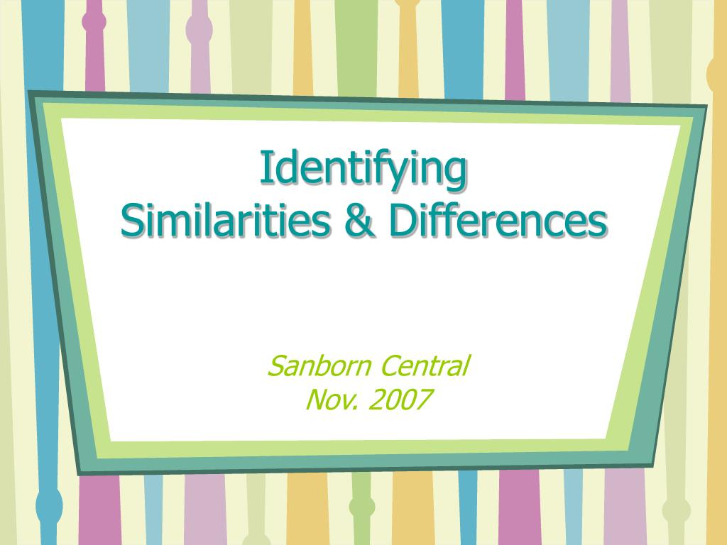 identifying similarities differences l.