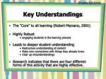 key understandings