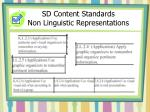 sd content standards non linguistic representations